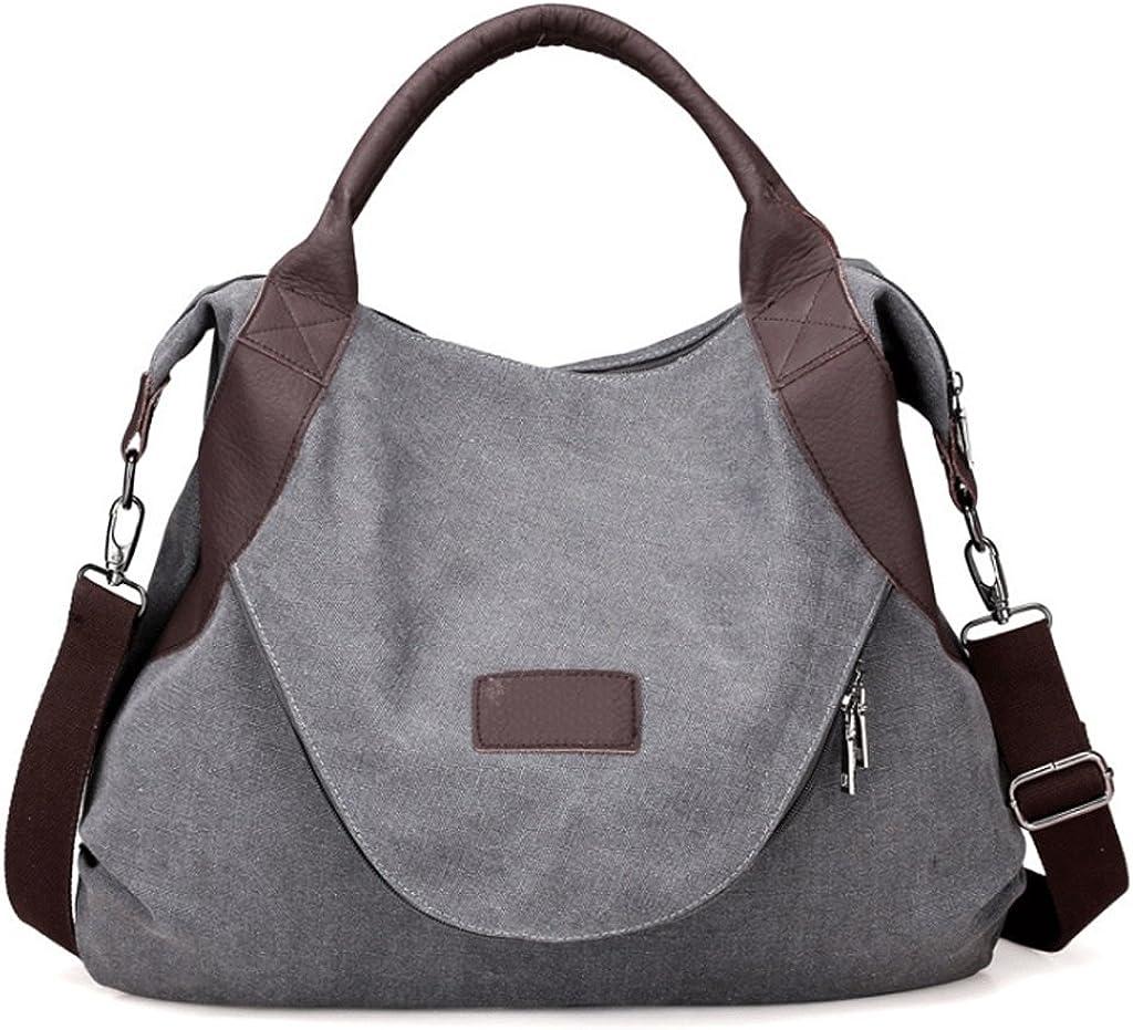 Womens Canvas Bag Large Capacity Single Shoulder Diagonal Package Retro Messenger Bag