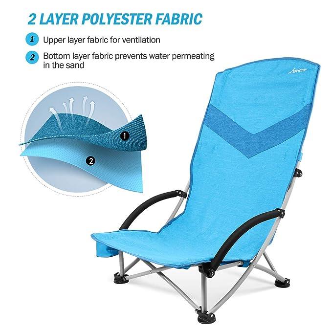 Amazon.com: Movtop - Mochila plegable para silla de playa ...