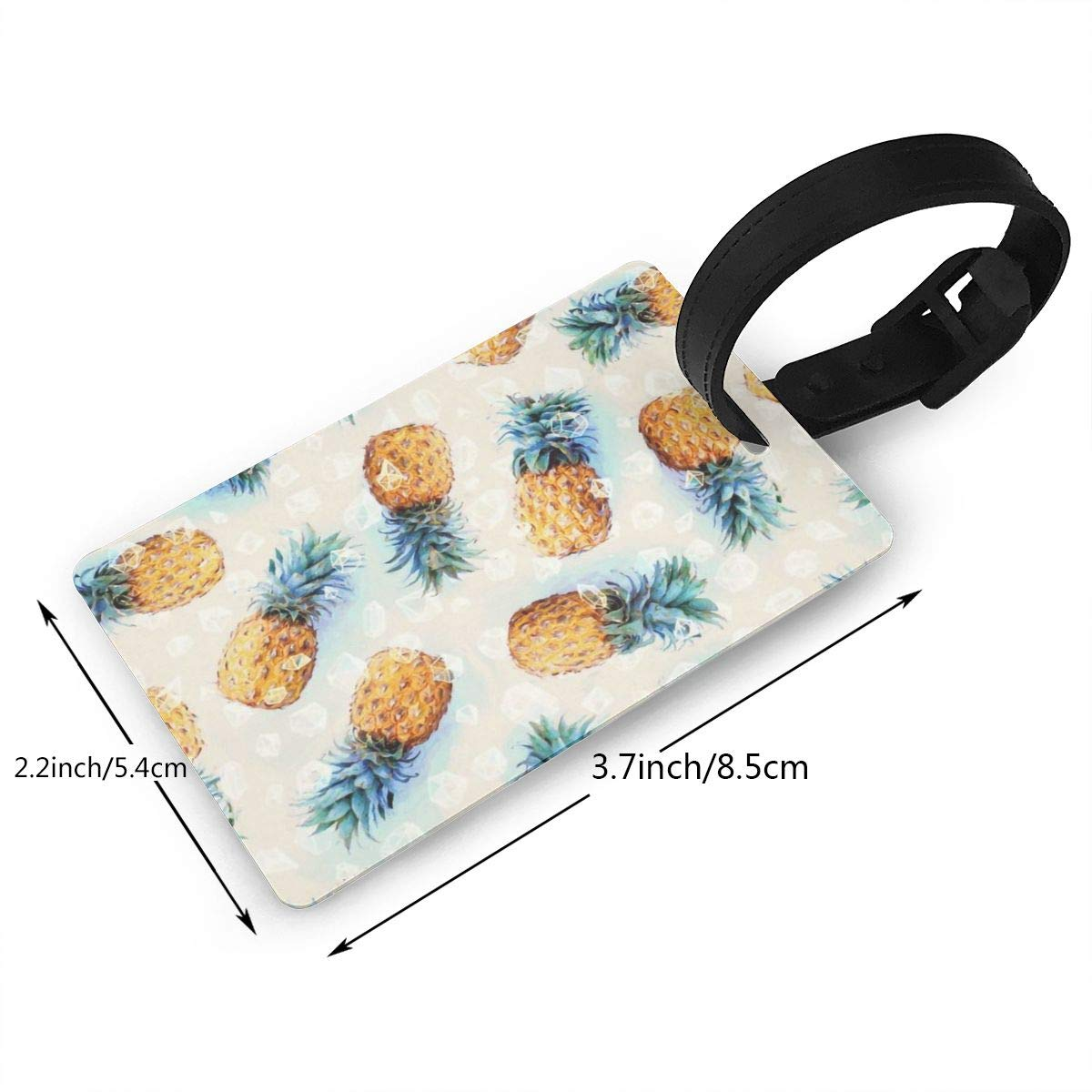 2 Pack Luggage Tags Pineapple Pattern Travel Tags For Suitcase Bag Accessories