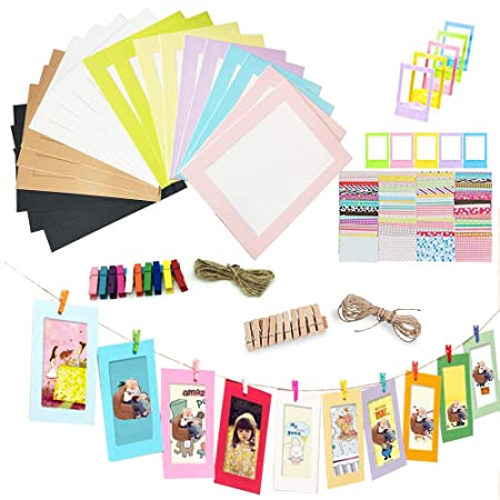 REKYO 20PCS Wall Deco DIY Paper Photo Frame, Photo Display - Fits 6 ...