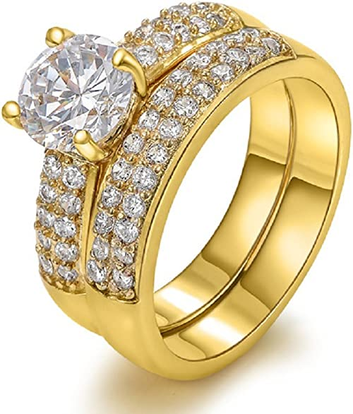 Amazon Com The New 18 Karat Gold Ring Wedding Ring Engagement