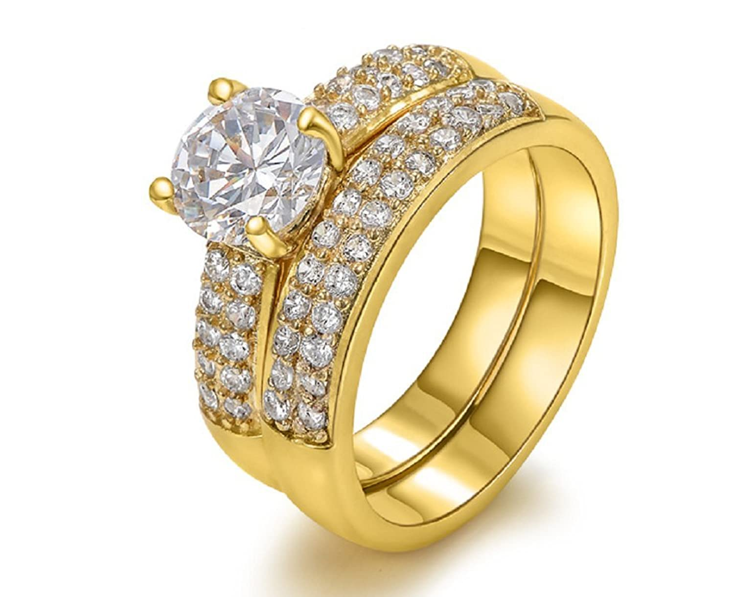 amazoncom the new 18 karat gold ring wedding ring engagement ring jewelry wholesale 6 jewelry - Indian Wedding Rings