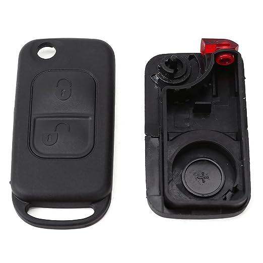 2 Botón Botones Carcasa de mando Key Llave Coche para BENZ W168 W202 W203 W210 W461 W124 W208 W210: Amazon.es: Coche y moto