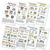 Principles of Design Classroom Variety Posters, Set of 8, 12 x 18 inches