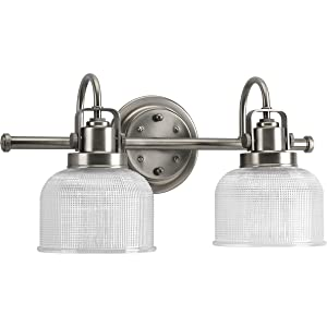 Progress Lighting P2991-81 Archie Collection Two-Light Bath & Vanity, Antique Nickel