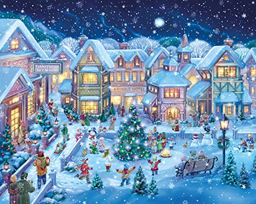 amazoncom holiday village square christmas jigsaw puzzle 1000 piece toys games
