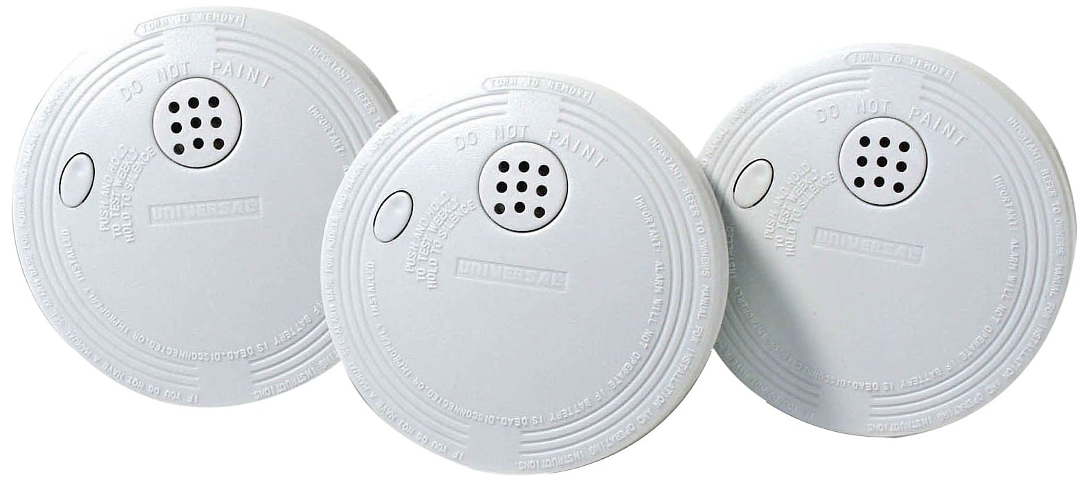 Universal Security Instruments SS-770-3P Battery Powered Ionization Smoke and Fire Alarm, 3-Pack by Universal Security Instruments