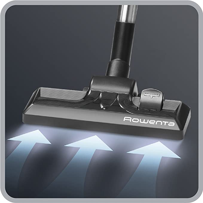 Rowenta X-Trem Power RO6951 - Aspirador 4A, sistema ciclónico sin bolsa, boquilla ranuras XXL, cepillo tapicería y mini turbo brush, tubo telescópico, ...