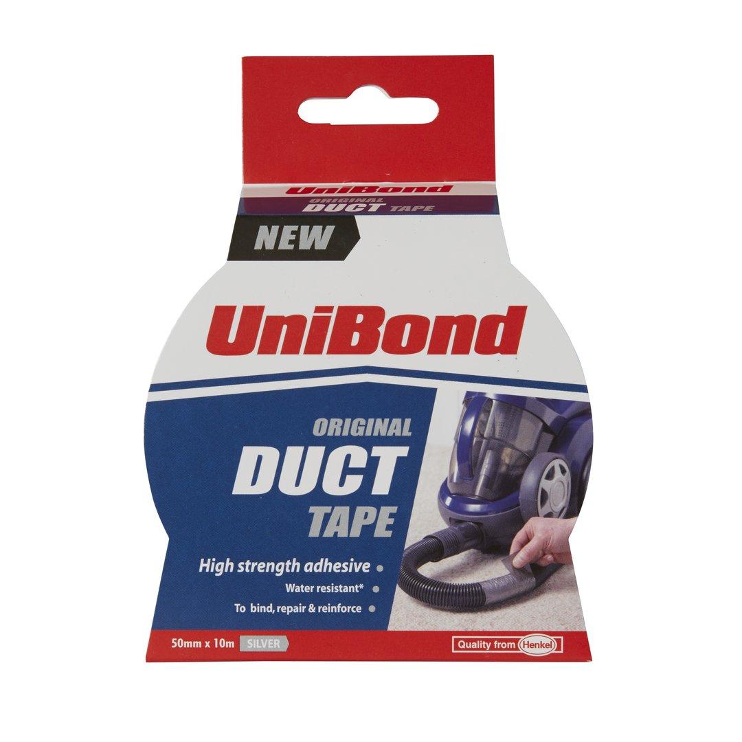 UniBond Original Duct Tape High Strength Adhesive - 50 mm x 10 m, Silver Henkel 1667265