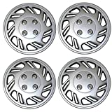 bmw 325 wheel cover - TuningPros WSC3-5016S14 4pcs Set Snap-On Type (Pop-On) 14-Inches Metallic Silver Hubcaps Wheel Cover