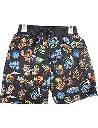 Skylanders Swap Force Big Boys Black Character Print Swim Wear Shorts 8-16