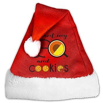 Amazon Com I Want My Tea And Cookies Christmas Santa Hat Party Caps