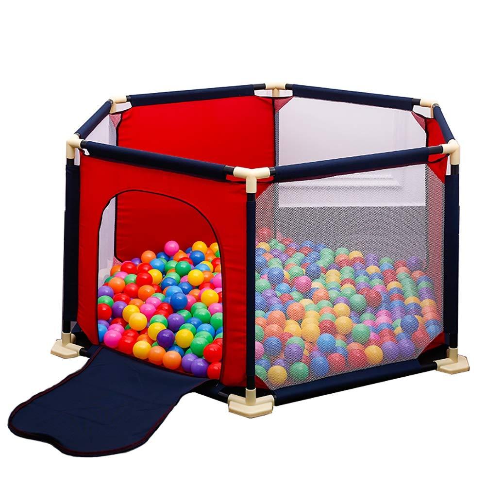 2019高い素材  ベビーサークル, プレイマット付きベビーベビーサークル、セーフティプレイヤードホームプレイグラウンド、室内子供用ゲームフェンス balls - 赤 赤 (色 (色 : Fence+Mat+150 balls) Fence+Mat+150 balls B07MVYHRWR, アロハコーポレーション:14f3e32e --- a0267596.xsph.ru