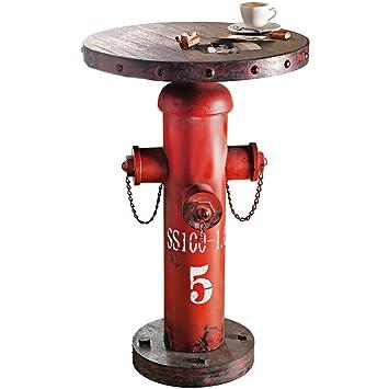 beistelltisch fireplug hydrant industrial style metall holz - Freistehende Holz Badewanne Hinoki Holzkollektion