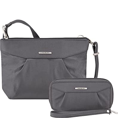 Travelon Anti-Theft Crossbody and RFID Clutch - Small Handbag   Wallet Set  for Travel 96bebb1f6db6f