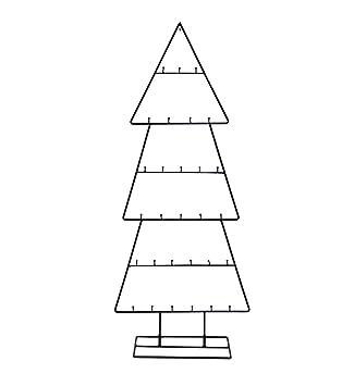 Spetebo Design Metall Tannenbaum Für Zierschmuck   100 Cm   Deko  Weihnachtsbaum Tanne Schwarz