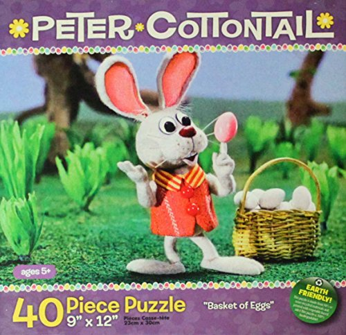 """Here Comes Peter Cottontail 40 Piece Puzzle - """"Basket of Eggs"""""""