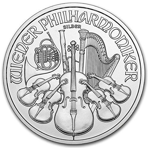 2016 AT Austrian Philharmonics Silver Coin 1 oz 999 Fine Silver 1.50 Euro Brilliant Uncirculated