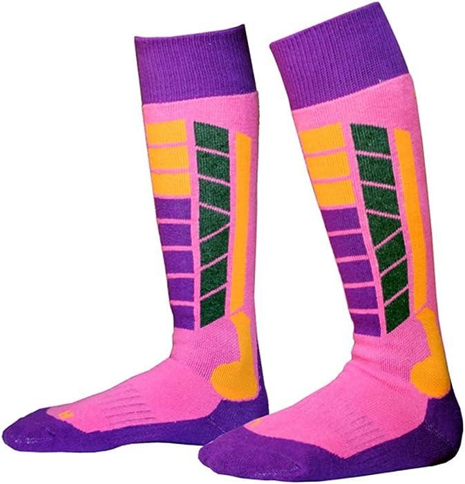 51b504de2 Ski Socks Warm Breathable Thermal Socks Knee-High Stockings for teenagers  Womens Mens (pink