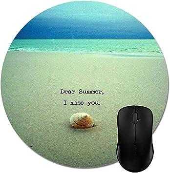 Dear Summer I Miss You Beach Mouse Pad Elegante Accesorio ...