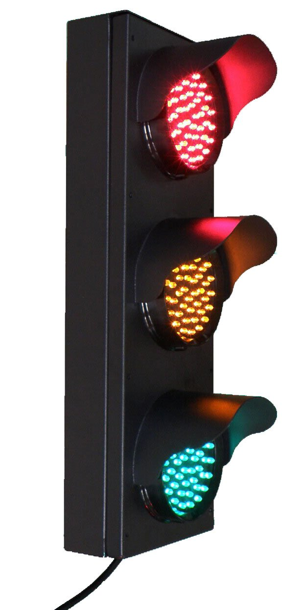 Signaworks Industrial LED Traffic Light 4 inch 3 Color Red/Yellow / Green