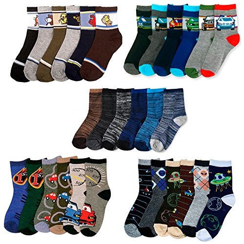2t 2 Years (12 Pairs Assorted Kids Socks Size Ages 2-3 Years Animal Print Boys 2T 3T)