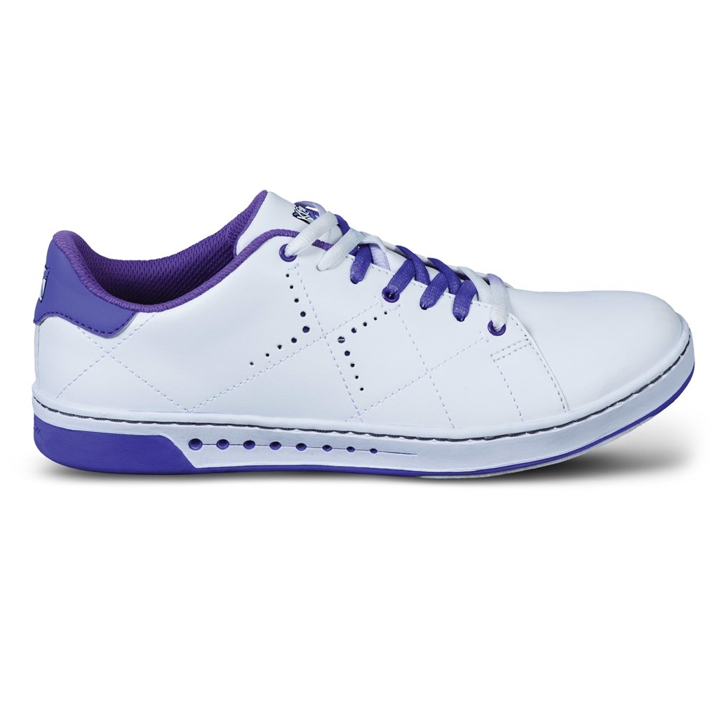 KR Strikeforce Women's Gem Bowling Shoes, White/Purple, Size 9
