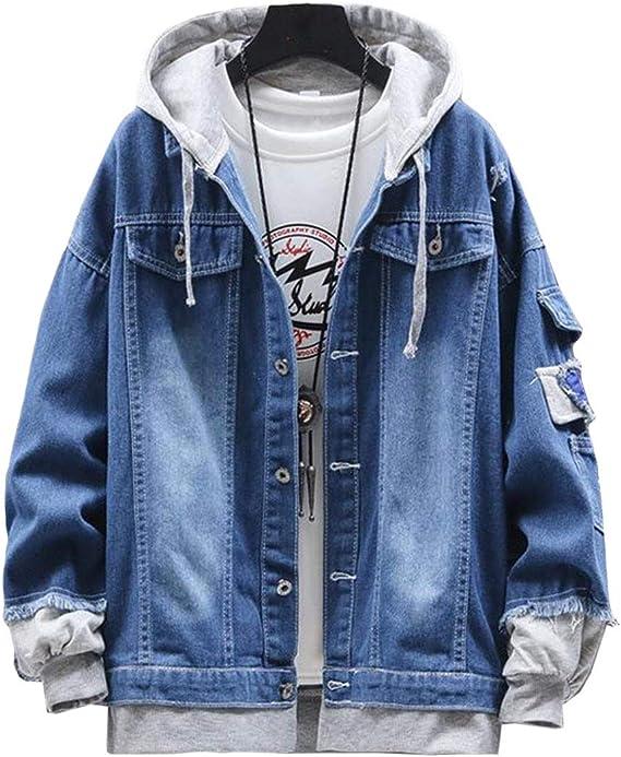 YiTongデニムジャケット メンズ ブルゾンジャケット 春秋 gジャン 長袖 ゆったり コート カジュアル アウター シンプル コート