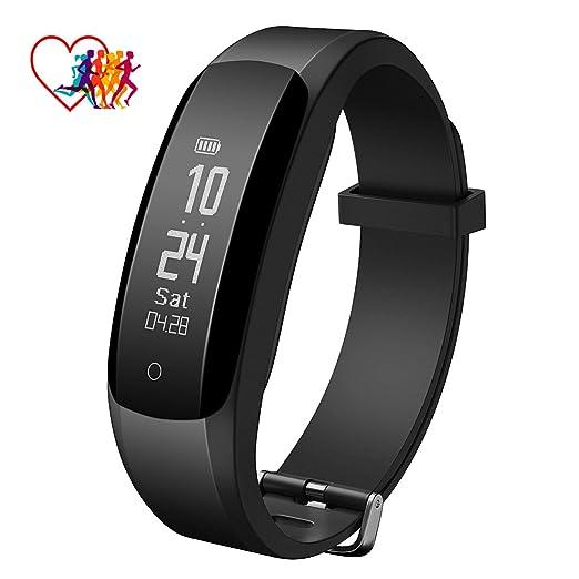 Montre Connectée Bracelet Connecté, Fitness Tracker Activité Charge Directe USB, Montre Bracelet Électronique Intelligent