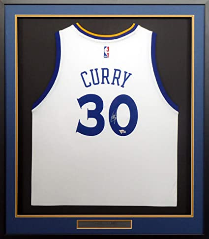 1126da0ca49 Golden State Warriors Stephen Curry Autographed Signed Framed Adidas White  Jersey Fanatics Holo  A115384