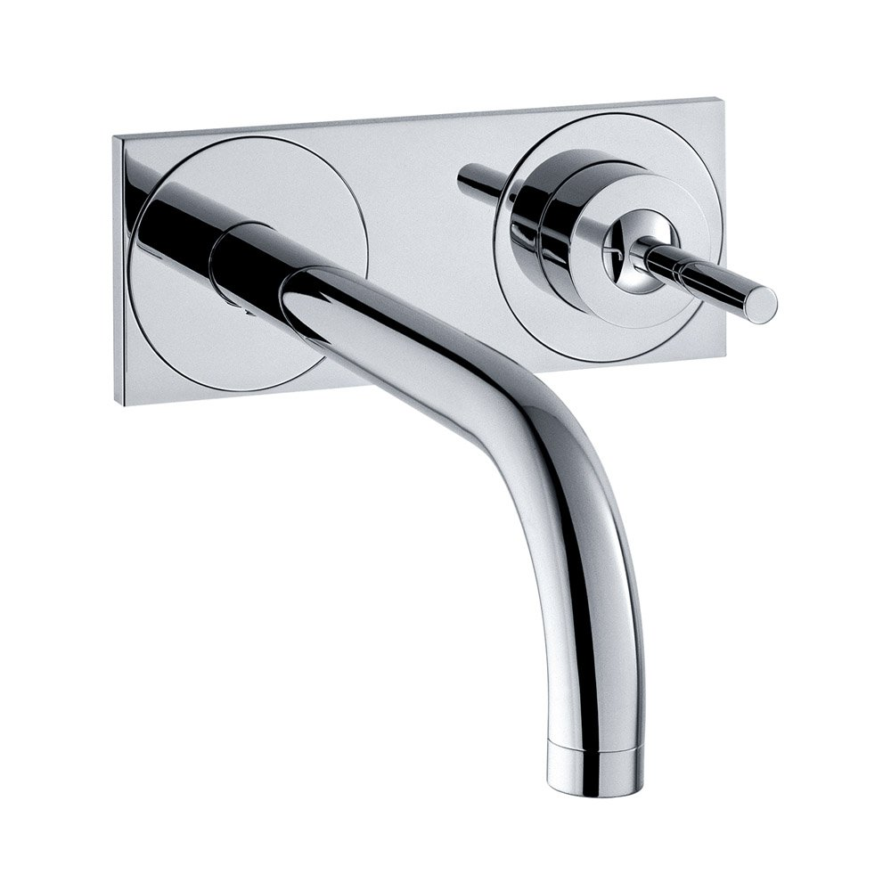 Axor 38117001 Uno Wall Mounted Single Handle Faucet with Baseplate ...
