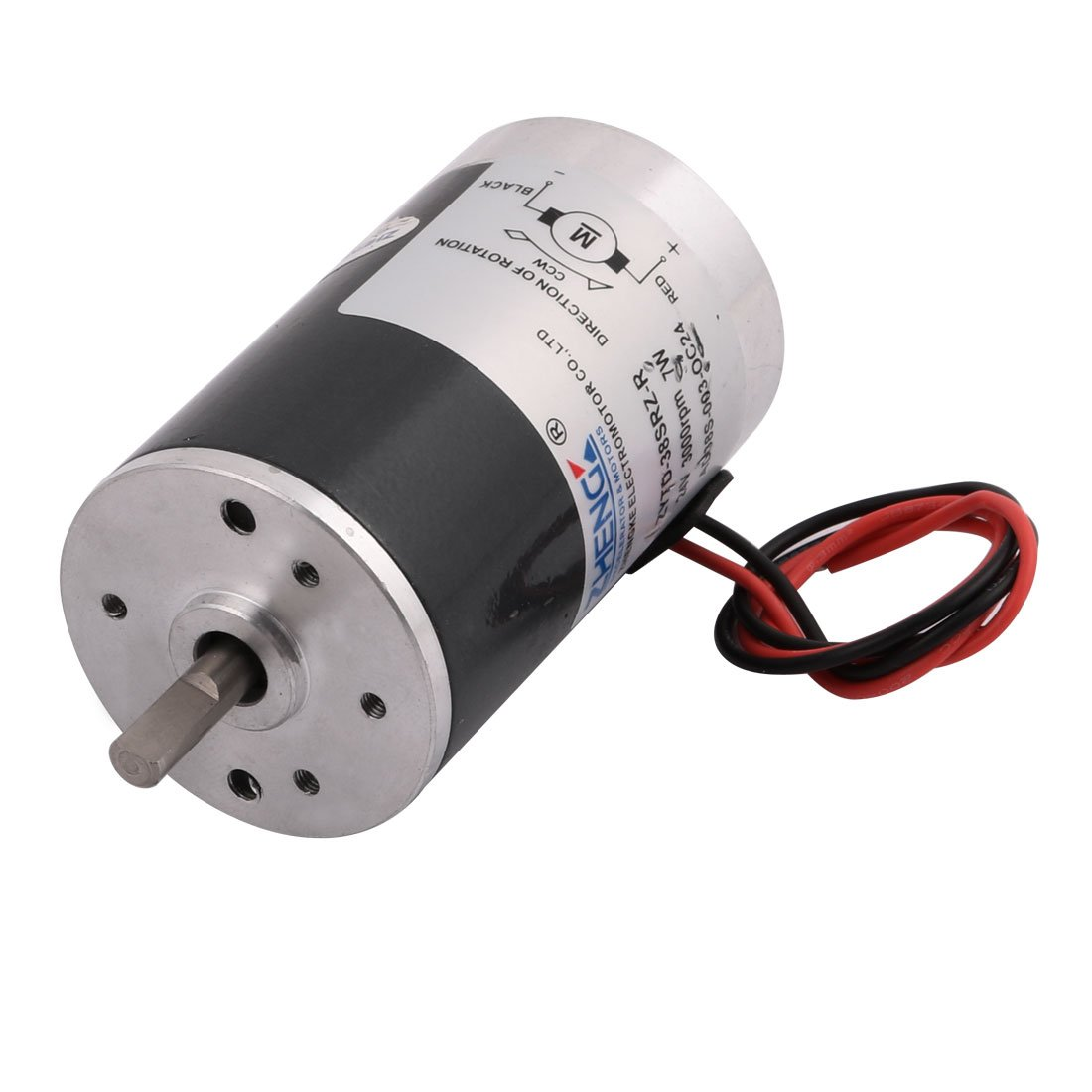 uxcell ZYTD-38SRZ-R DC 24V 3000RPM 7W Brushless D-Axis Speed Control Motor w Wire