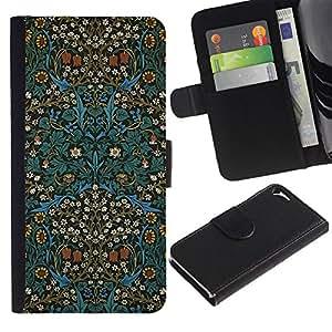 For Apple iPhone 5 / iPhone 5S,S-type® Culture Oriental Carpet Wallpaper - Dibujo PU billetera de cuero Funda Case Caso de la piel de la bolsa protectora