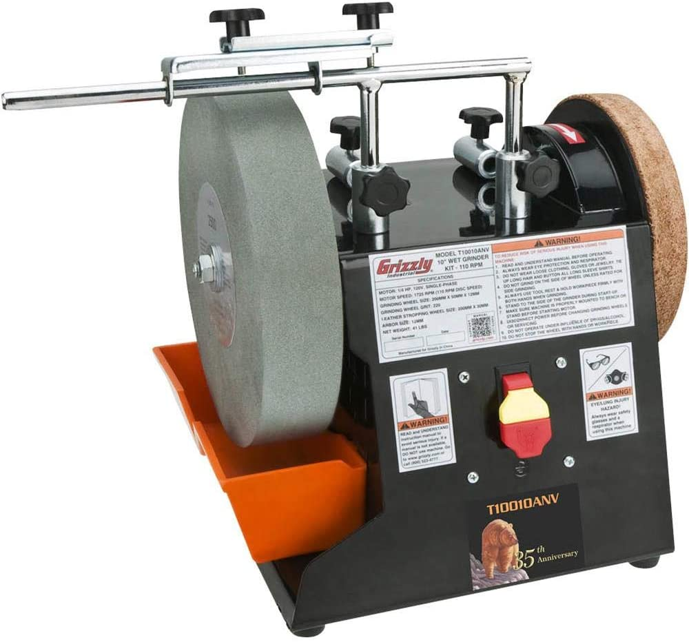 """Grizzly Industrial T10010ANV - 10"""" Wet Grinder Kit - Anniversary Edition"""