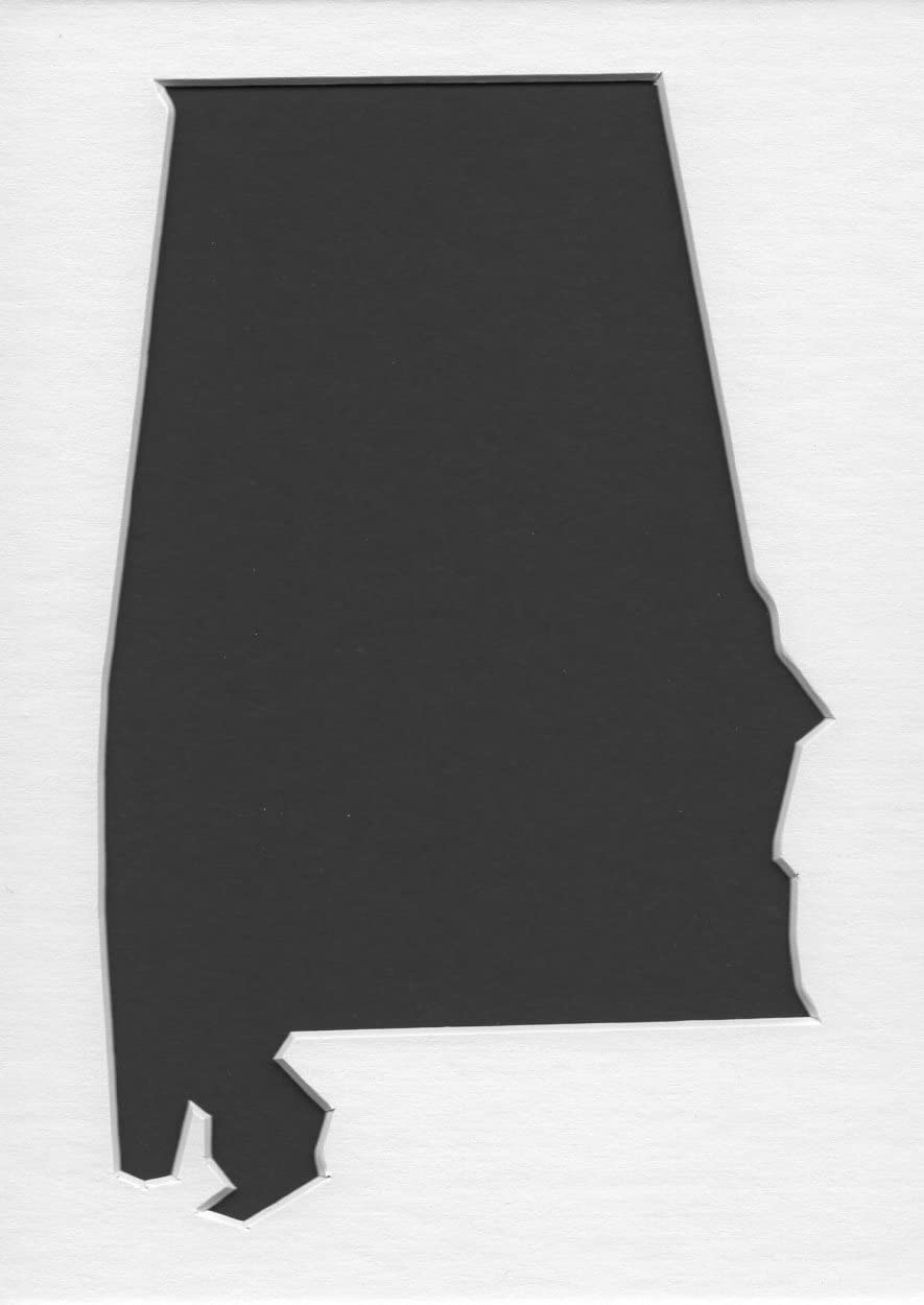 Florida State Stencil Made from White 4 ply Mat Board 5x7