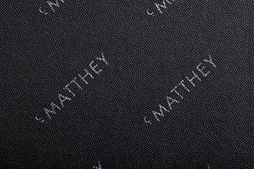 C. Matthey Schreibunterlage aus feinem italienischen Rindleder 50 x 70 cm, 0,5 cm dick, mit abklappbarem Winkel ca. 3 cm breit, Farbe: ziegelrot - Handmade in Germany