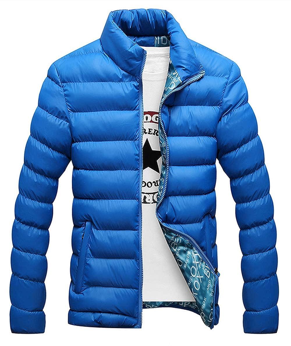 Holure Men's Winter Lightweight Down Puffer Jacket Warm Parka Outwear Thick Casual Coat