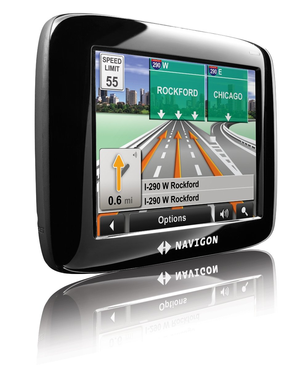 Amazon Com Navigon  Inch Portable Gps Navigator Cell Phones Accessories