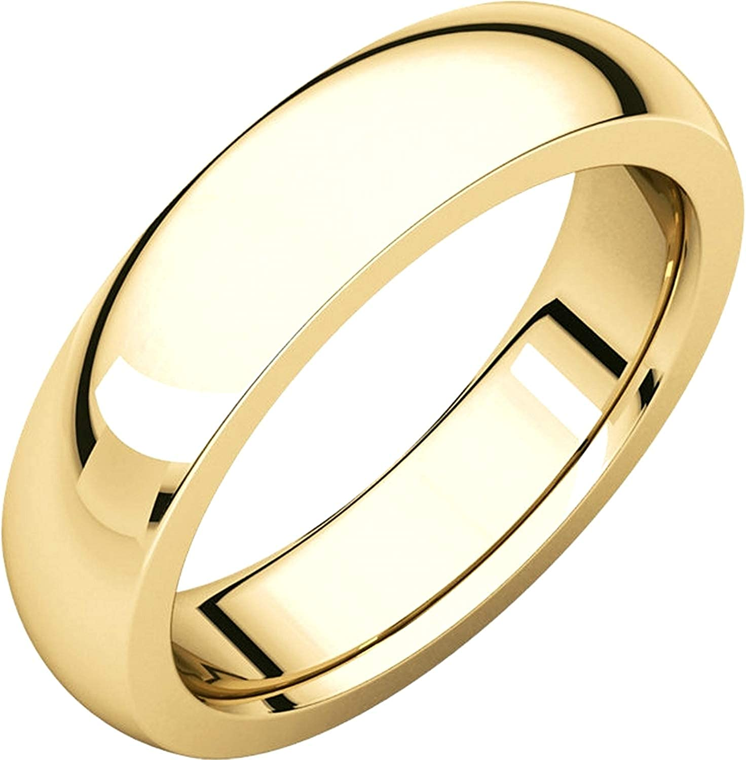 Mens 10K Yellow Gold 3mm Heavy Inside Round Comfort Fit Wedding Band Ring