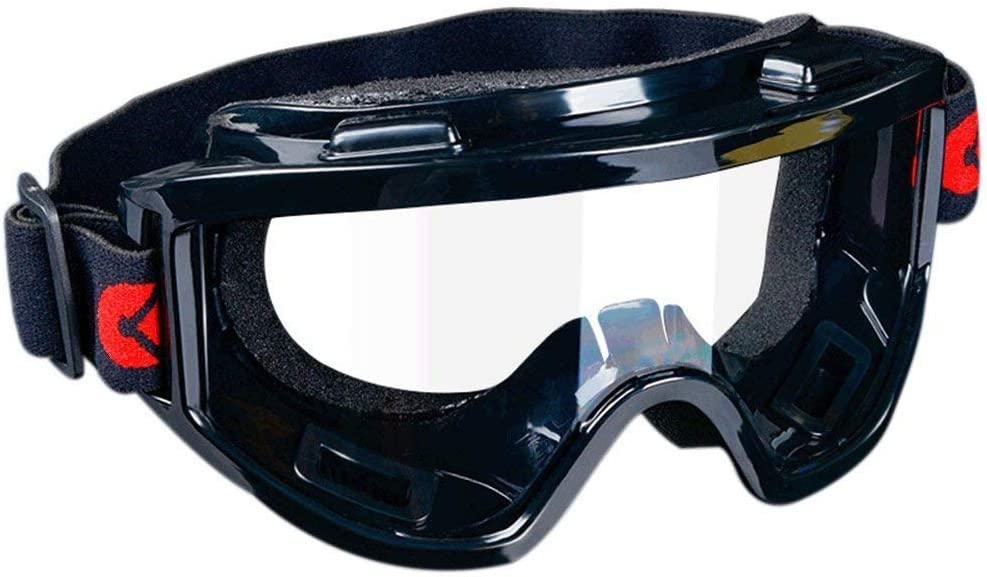 Bocotoer - Gafas de seguridad unisex para protección de los ojos, antipolvo y antiarañazos, color negro