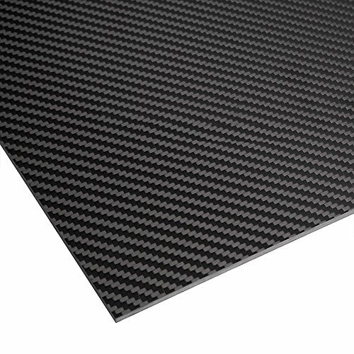 ZSJ New Hot 3K 100% Twill Matte Carbon Fiber Sheet 500mm width 600mm length 0.5mm thickness Pure carbon fiber plate panel for Multicopter decoration RC drone ()
