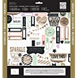 Me and My BIG Ideas SRK-142 Scrapbook Page Kit, 12 by 12-Inch, Gold Rush