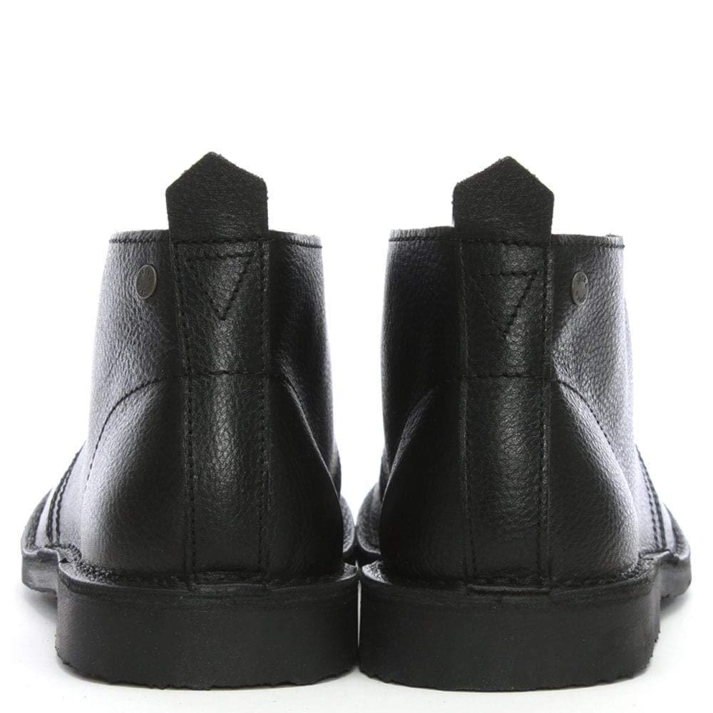 JACK & JONES Wüste Gobi schwarzes Leder schnüren schnüren schnüren Wüsten Stiefel 3c1c98
