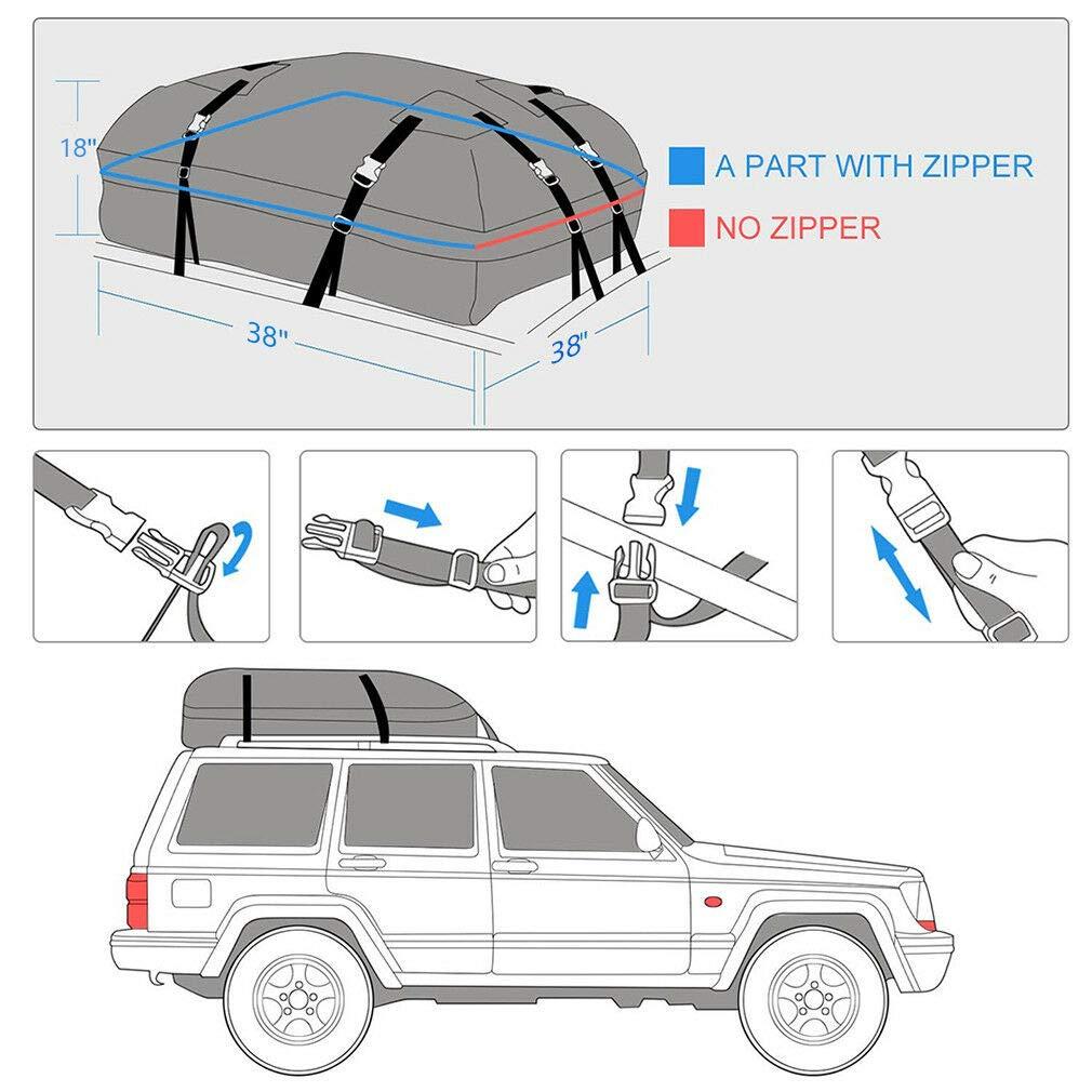 f/ür zus/ätzlichen Schutz LKW 96,5 x 96,5 x 45,7 cm perfekt f/ür Auto SUV Transporter robust robust SUV LKW Maso Dachtasche f/ür Autos Transporter
