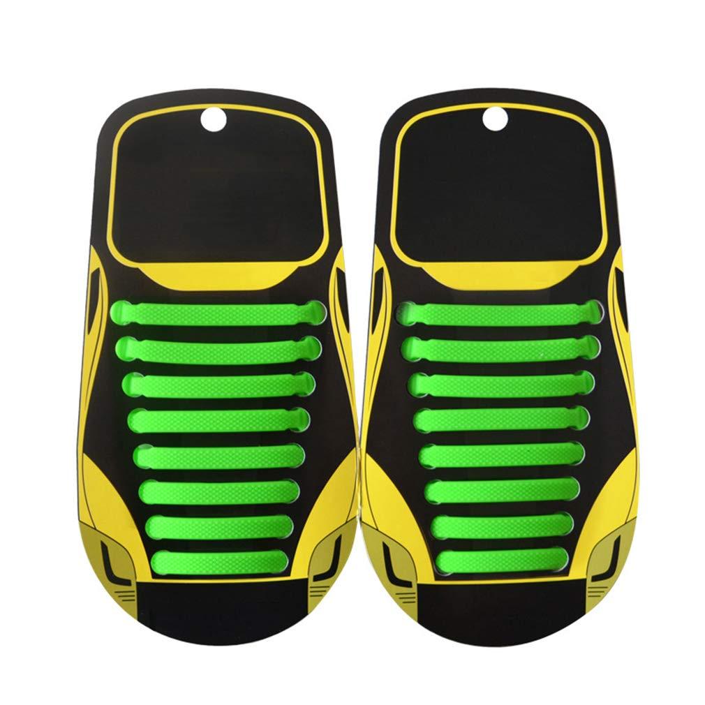 fangcheng Lacci per Scarpe Elastici in Silicone Adulti No Tie Lacci Impermeabile 16 Pezzi Vari Colori Lacci per Corsa/Sportive / Triathlon Atleti Piatto Laces Bordo Boots Sneakers Shoelaces