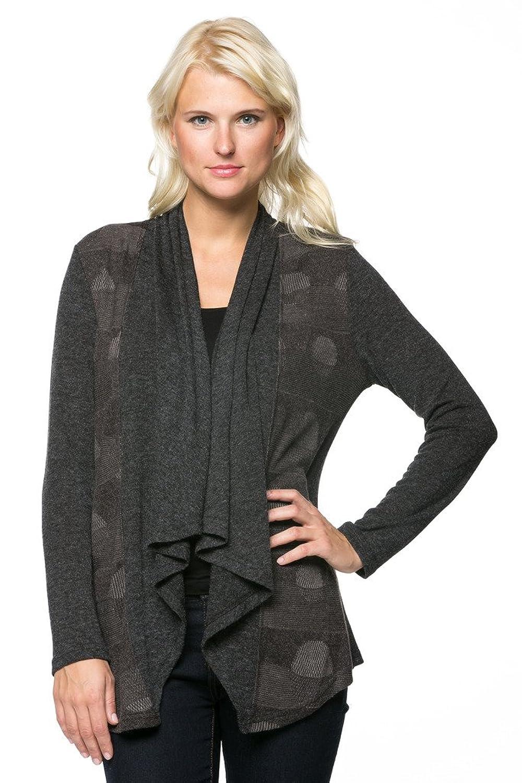 Women's Long Sleeve Geometric Open Front Cardigan
