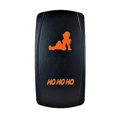 Bright Light Powersports - Laser Rocker Switch - HO HO HO - Universal On/Off - 12 Volt (Orange): Automotive