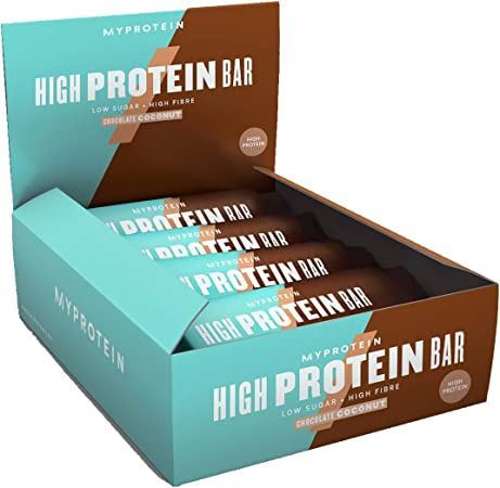 MyProtein High Bar Barritas de Proteínas, Sabor Chocolate y Coco - 12 Barras