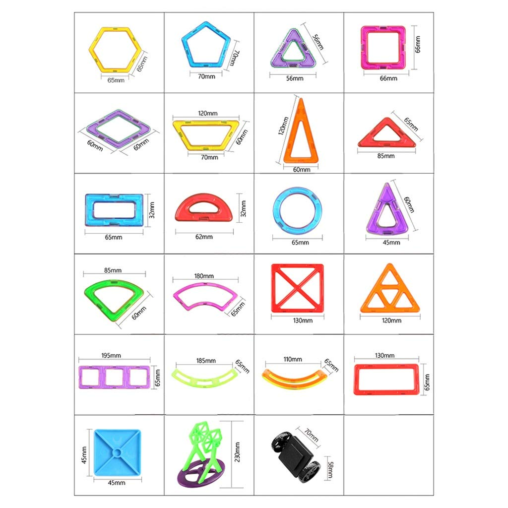 LIUFS-TOY Magnetic Piece Building Blocks Children's Toys Assembling Patch Puzzle Diamond 3-10 Years Old Boy Girl (Size : 331 Pieces) by LIUFS-TOY (Image #7)