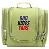 Westboro-Baptist-Church-god-hates-fags Cosmetic Makeup Bag